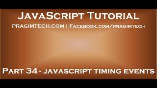 JavaScript timing events