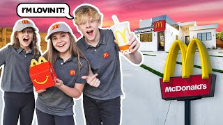 I OPENED My Own McDONALD's At HOME with My BOYFRIEND **24 Hour Challenge**🍔🍟| Piper Rockelle