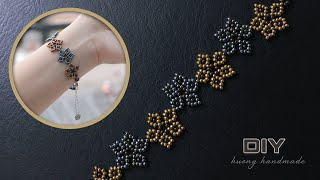 Beaded Bracelet With Seed Beads Tutorial. Jewelry Making