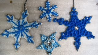 Faux Snowflake Cookie Ornaments ~ Featuring Miriam Joy