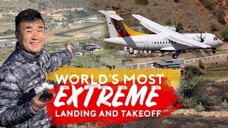 World's Most Extreme Plane Landing and Takeoff – Paro Airport