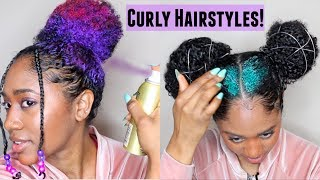Curly Hairstyles (Festival/ Spring Ready🎊)|Easy + No Damage!