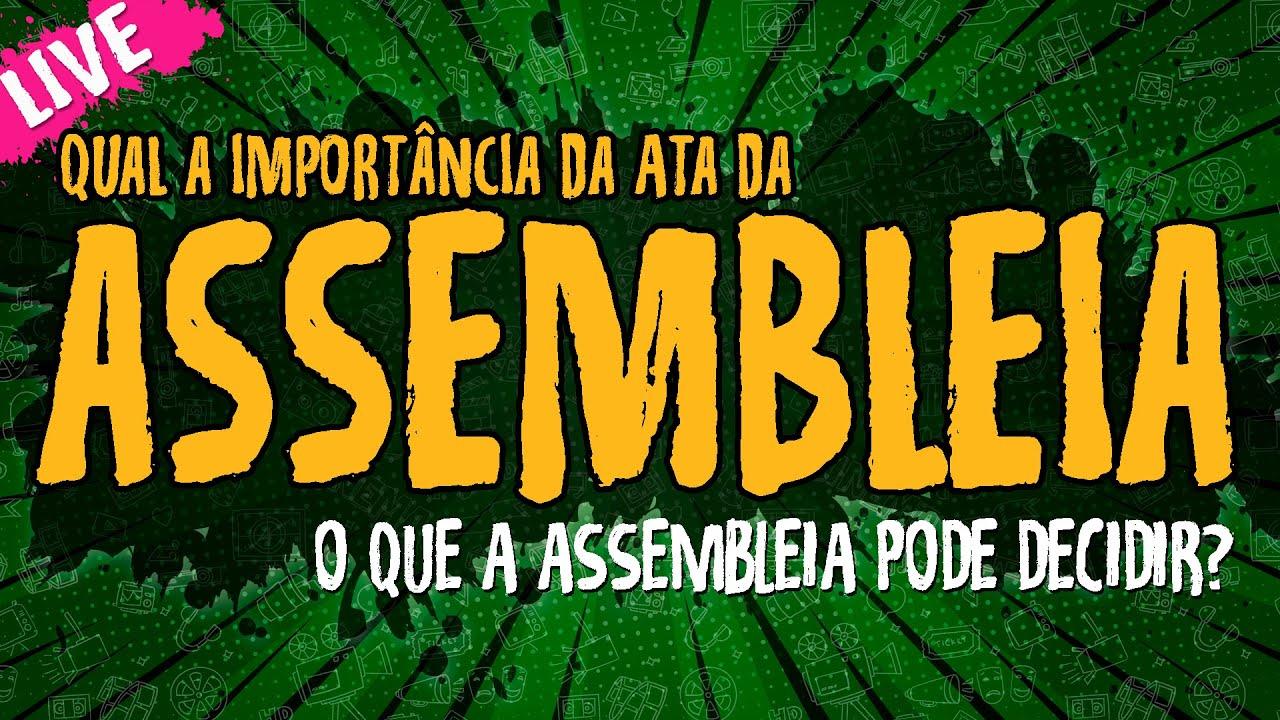 Ata da assembleia – Associação sem fins lucrativos – Live