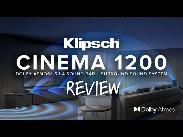 Video of Klipsch Cinema 1200 Dolby Atmos Sound Bar + Surround Sound System