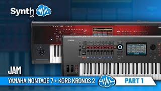 Yamaha Montage 7 + Korg Kronos 2 Jamming by Alex Di Donna ( Part 1 - Pianos )