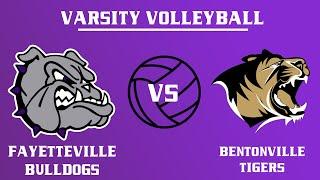 Varsity Girls Volleyball I  Bentonville @ Fayetteville