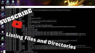 dir command - listing files and directories using windows command line [in Hindi]