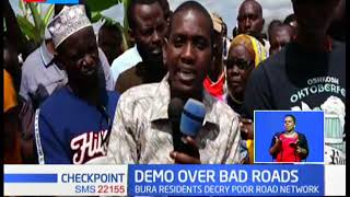 Demonstrations held over bad roads in Tana River