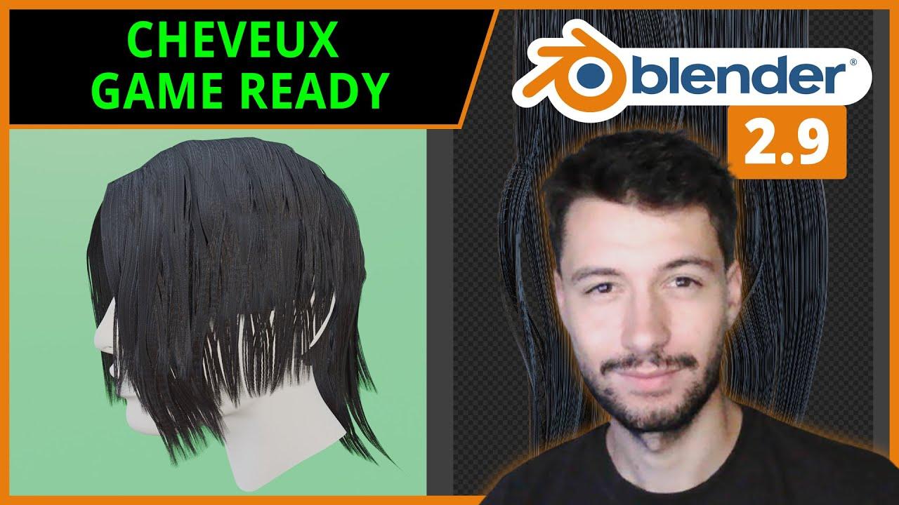 CHEVEUX GAME READY ET LOW POLY | Blender 2.9 [TUTO FR]