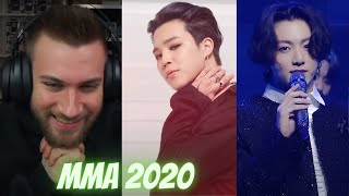 OMG! 😆😆  BTS FULL MMA 2020 PERFORMANCE (Black Swan Perf. , ON , Life Goes On , Dynamite ) - REACTION
