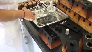 Preparing Moxa Box in Chinese Hospital