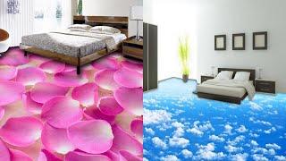 New Modern 3D Mural Flooring Design  For Bedroom / 3D Mural Flooring Scenery Tiles Design N Sticker