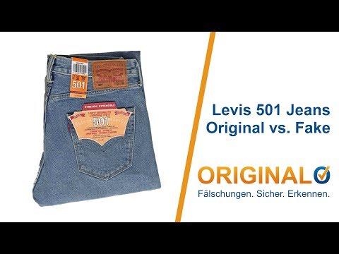 Levis 501 Jeans Original und Fake / Fälschung einfach unterscheiden