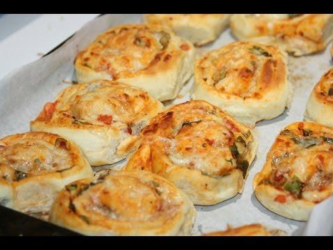 Mini Pizzas Roulés - Mini Pizza Rolls - بيتزا رولي رائعة