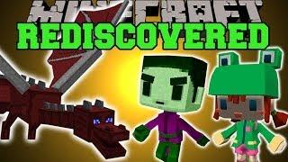 Minecraft: REDISCOVERED (SECRET MINECRAFT FEATURES!) Mod Showcase