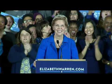 Democratic Sen. Elizabeth Warren defeated two challengers on Tuesday, winning another term in the U.S. Senate. (Nov. 7)