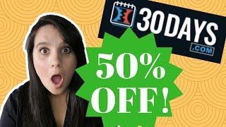 30days.com DISCOUNT COUPON