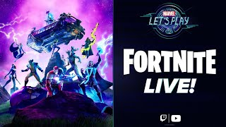 Stark Industries Appears in FORTNITE! | Marvel Let's Play LIVE