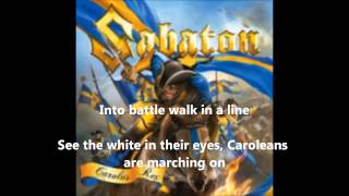 Sabaton-The Carolean's prayer (with lyrics on screen!!)
