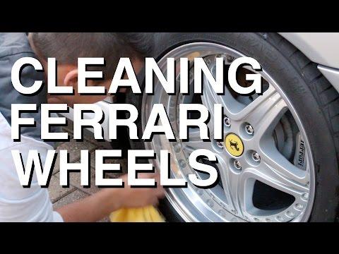 Cleaning Wheels on a Ferrari 575