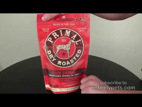 Primal Treats Dry Roasted Buffalo Liver Snaps (5 oz) Video