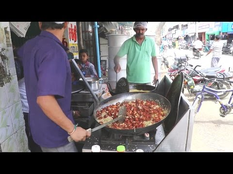 Amazing Chicken Fried Rice with Fresh Vegetables for 30 people - Indian street food