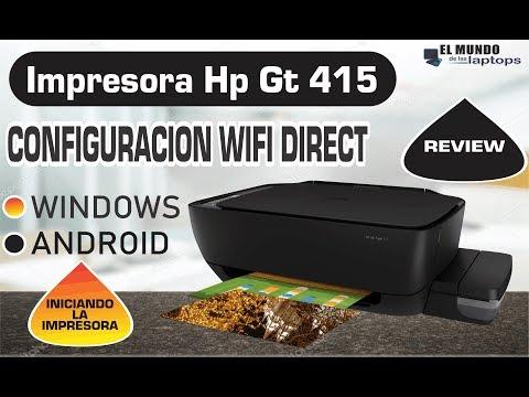 Impresora HP Ink Tank 415 configuracion Wifi direct Review Setup