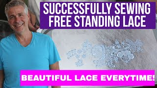 Free Standing Lace Machine Embroidery Design Tutorial