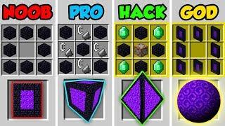 Minecraft NOOB vs. PRO vs. HACKER vs. GOD: SECRET PORTAL CRAFTING in Minecraft! (Animation)