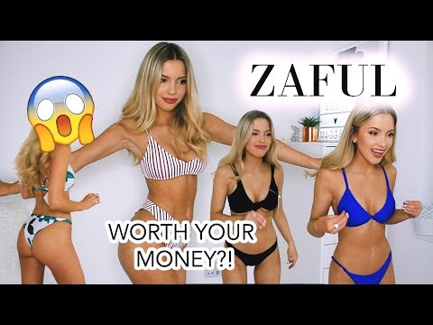 ZAFUL BIKINI TRY ON HAUL! I'M SHOCKED! LOVE OR HATE? | anniemadgett