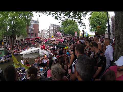 Download Amsterdam Pride Canal Festival 2018 Mp4 HD Video and MP3