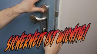 Mehr Sicherheit für die Wohnungstür / Haustür   HOPPE Edelstahl Schutzbeschlag   Lets do it