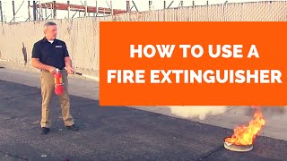 How To Use A Fire Extinguisher (fire extinguisher training)
