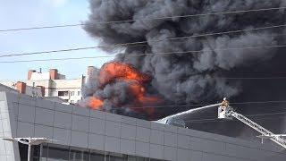 Пожар Рольф Центр Лахта Санкт-Петербург 28.03.18