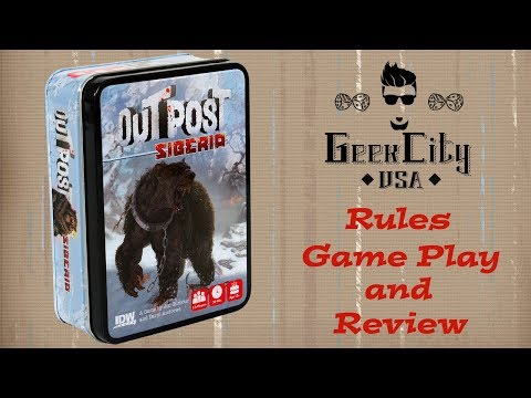 Outpost: Siberia - Rules, Run Through, & Review w/ Survival Guide Update!
