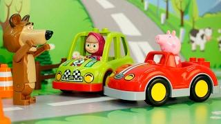 Мультфильм для детей на русском - Свинка Пеппа Маша и Медведь - Новая серия! Гонки наперегонки!