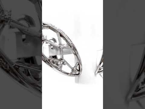 Aretes io sì Colección Masterpieces con diamantes en oro blanco de 18K Joyería Monterrey Joyería Querétaro La mejor joyería de México