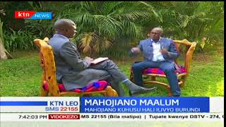 MAHOJIANO MAALUM: Naibu Rais wa Burundi Gaston Sindimwo yuko ziarani nchini Kenya