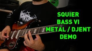 Is It A Guitar? Is It A Bass?... It's A Bass VI! Metal / Djent Tone On A Squier Bass VI
