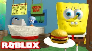 ESCAPE THE KRUSTY KRAB OBBY!! | Roblox Adventures