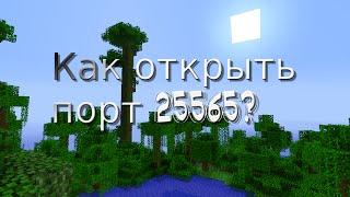 Как открыть порт 25565? - Ответ тут!