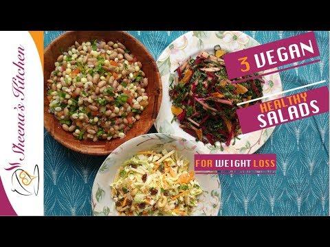 3 HEALTHY VEGAN SALADS| WEIGHT LOSS SERIES | Sheenas Kitchen