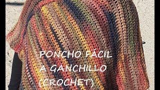 PONCHO FÁCIL A GANCHILLO