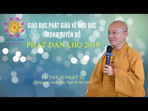 Giáo dục PG về đạo đức trong tuyên bố Phật đản LHQ 2019
