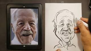 How To Draw A Caricature Of An Elderly Person (Men)