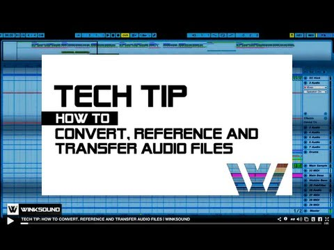 Tech Tip: How To Convert, Reference And Transfer Audio Files | WinkSound