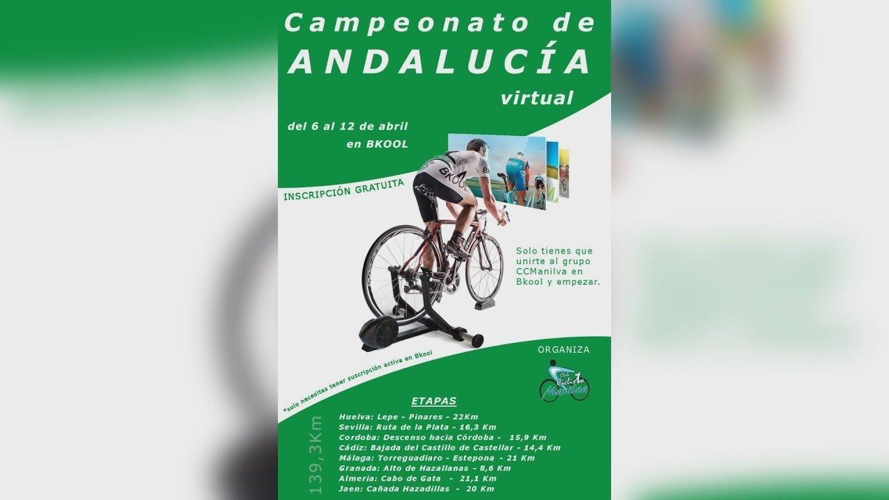 Campeonato de Andalucía virtual en Bkool