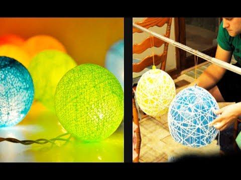 Lampu Lampion dari Benang dan Balon