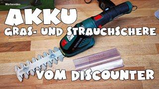 Hands on: Lidl - PARKSIDE® Akku-Gras- und Strauchschere PGSA 4