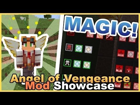 Awesome Magic Spells!! • Angel of Vengeance Mod Showcase • Minecraft